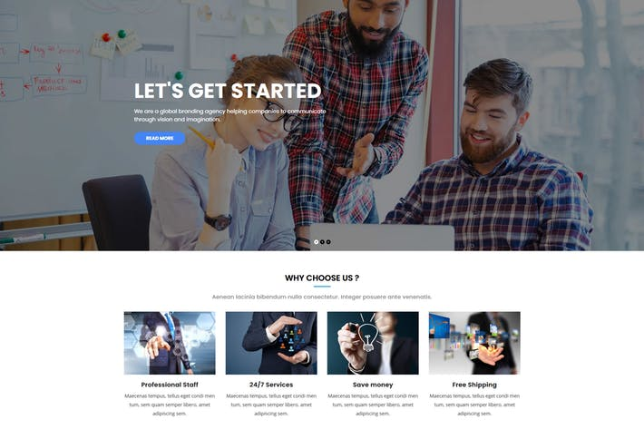 Cover Image For Kiamo - Responsive Business WordPress Theme