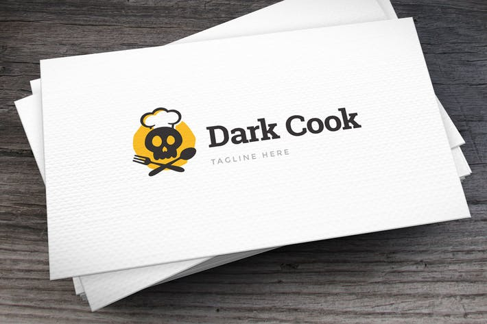 Thumbnail for Dark Cook Logo Template