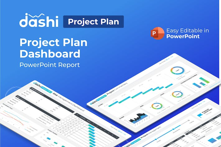 Thumbnail for Dashi Project Plan Dashboard PowerPoint