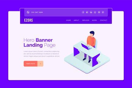 Ezors - Hero Banner Template