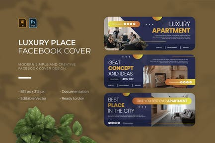 Luxury Place   Facebook Cover