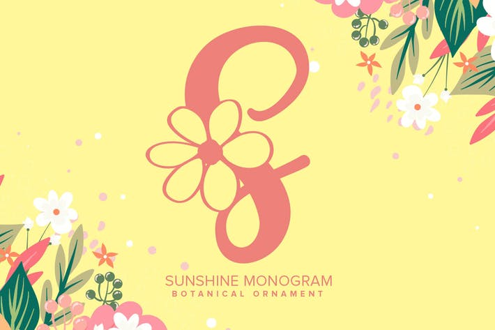 Fuente de monograma Sunshine