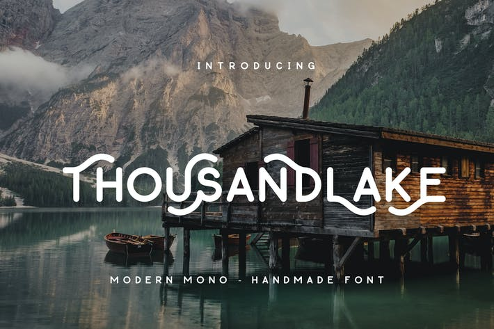 Thumbnail for Thousand Lake - Handmade Font