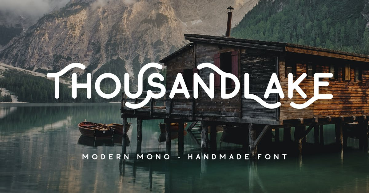 Download Thousand Lake - Handmade Font by micromove