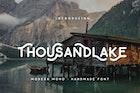 Thousand Lake - Handmade Font