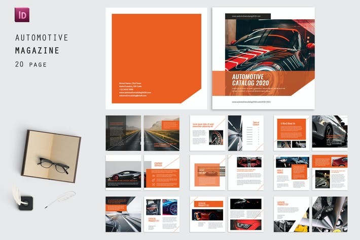 Cover Image For Automotive Magazine Catalog