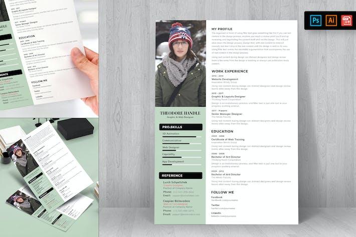 Thumbnail for Resume CV Template-85