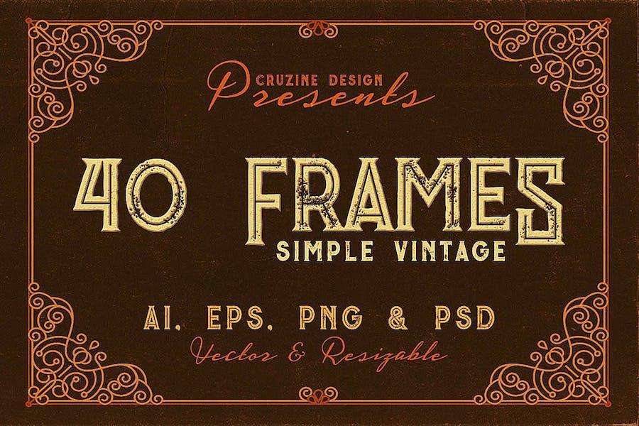 40 Vintage Frames