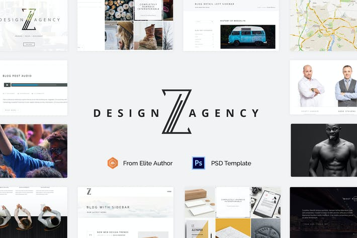 Thumbnail for Zuut - Clean Agency Minimal PSD Template