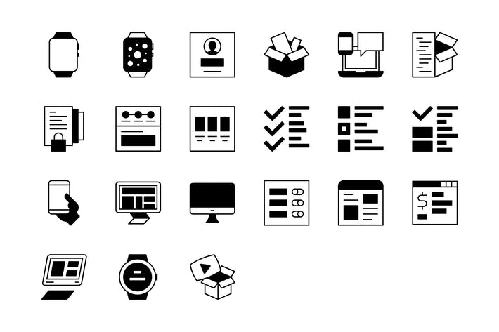 Thumbnail for 21 Web/Mobile Development icons