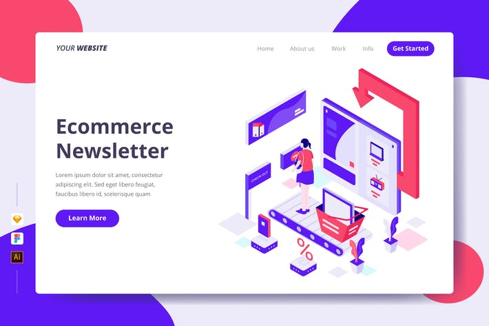 Thumbnail for E-Commerce-Newsletter - Zielseite
