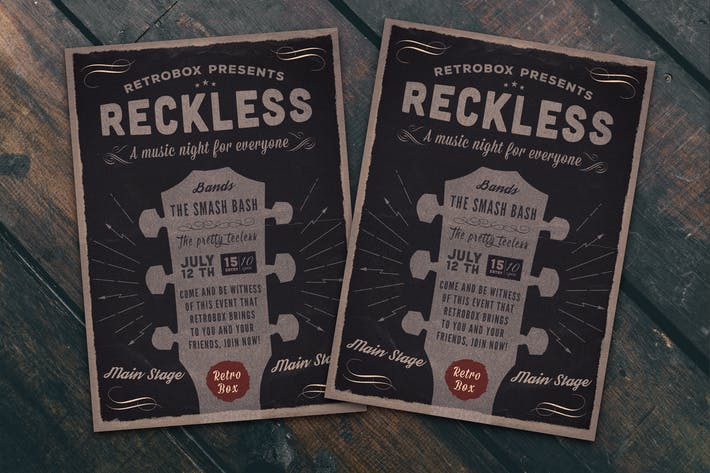 Reckless Party Night Flyer Poster