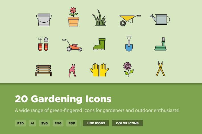 Thumbnail for 20 Gardening Icons