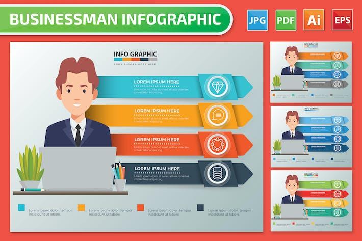 Thumbnail for Бизнесмен Инфографика