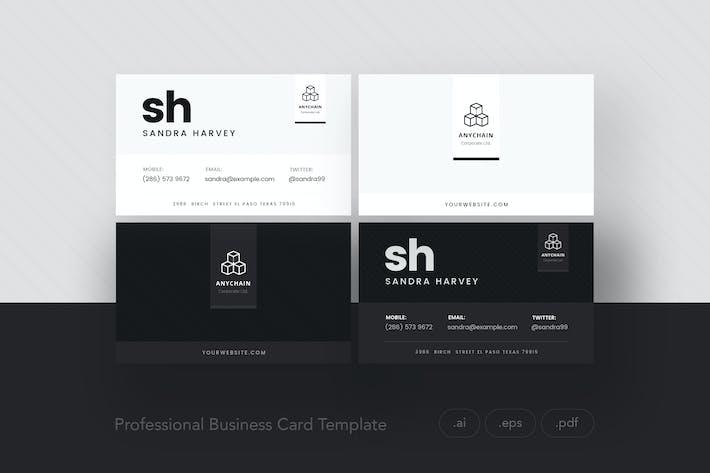 Thumbnail for Professional Business Card Dark-Light V.1