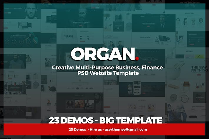 Thumbnail for Organ - Multipurpose Business & agency Template
