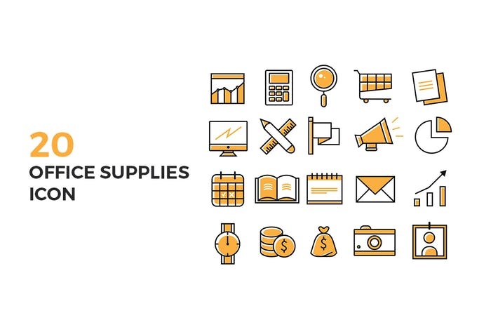Thumbnail for Office Supplies Icons