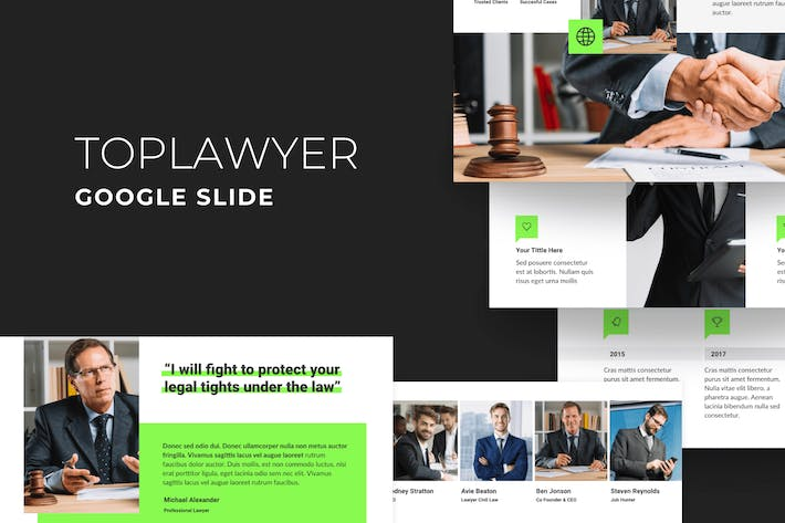 Thumbnail for TopLawyer - Lawyer Google Slide Template