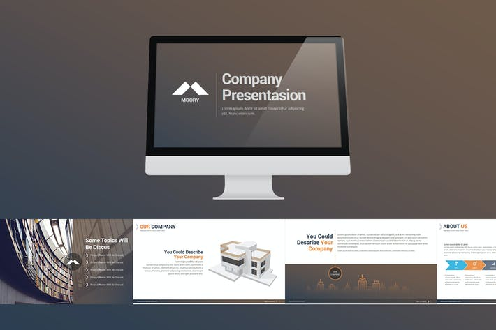 Cover Image For Moory Company Keynote Templates