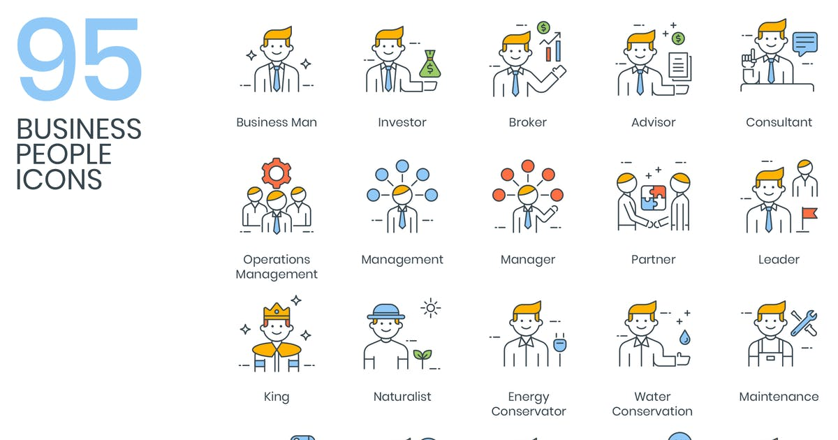 Download 95 Business People Icons by Krafted