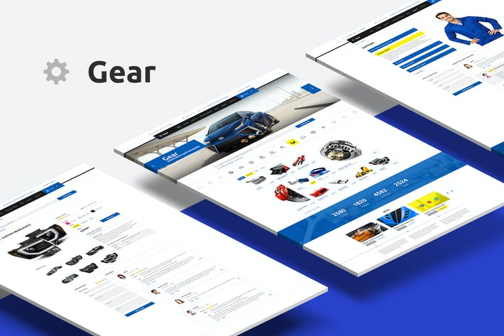 Gear — Automotive Business/Auto Parts Store PSD