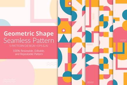 Geometric Shape Seamless Pattern