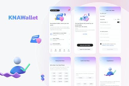 Knawallet Crypto Mobile Ui - Create Wallet