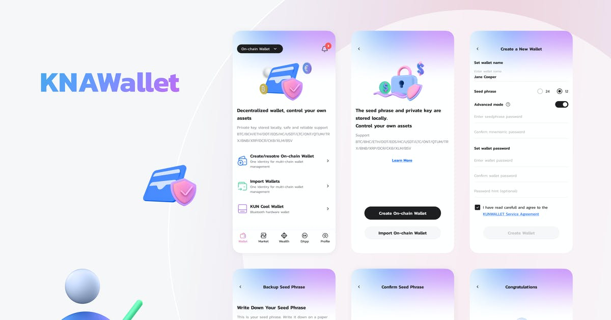 Download Knawallet Crypto Mobile Ui - Create Wallet by angelbi88