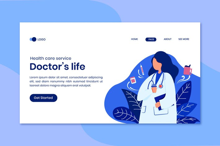 Health Care Service Landing Page Template
