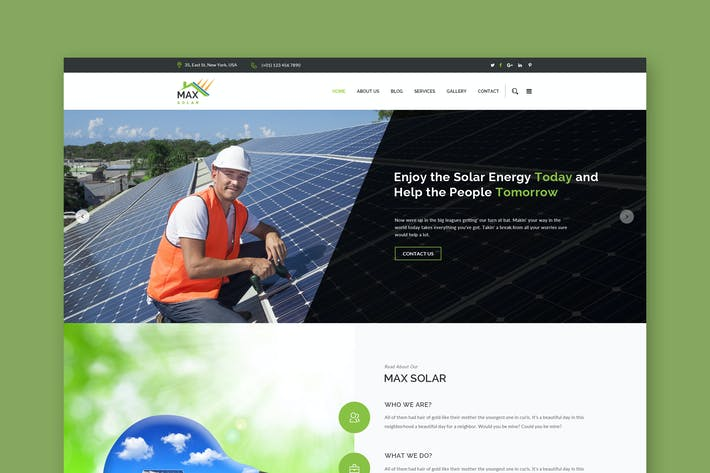 Thumbnail for Solar Website PSD Template