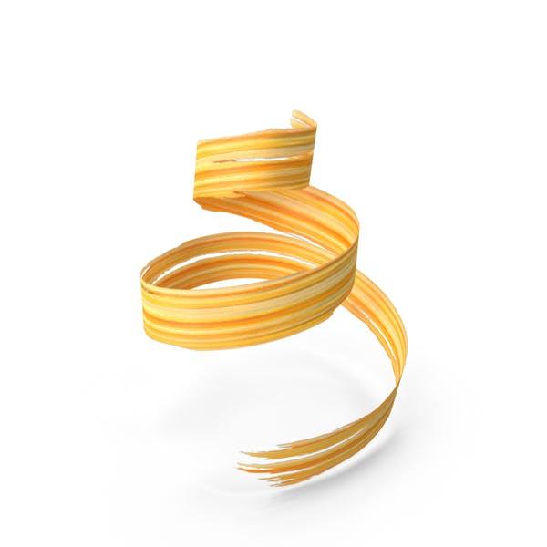 Yellow Orange 3D Paintbrush Strokes