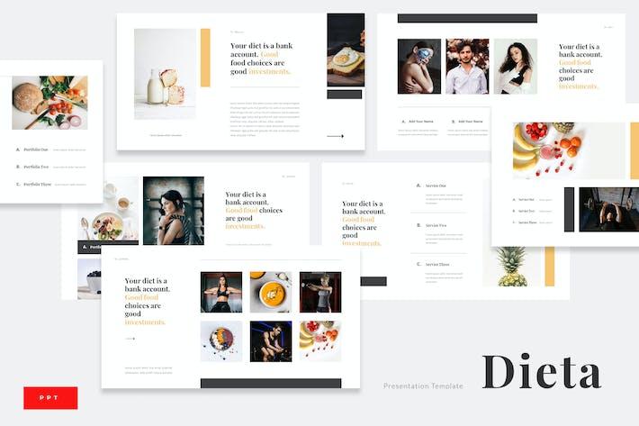 Dieta - План диеты питания Powerpoint Презентация
