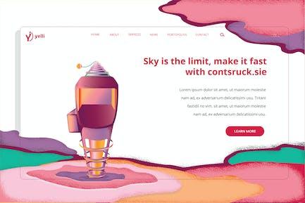 Yelli - Construction Web Header Template