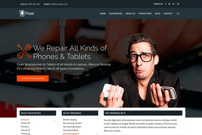 Cover Image For Fixar - Phone & Computer Repair Theme
