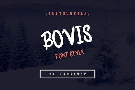 Bovis - Custom Handmade Font Style