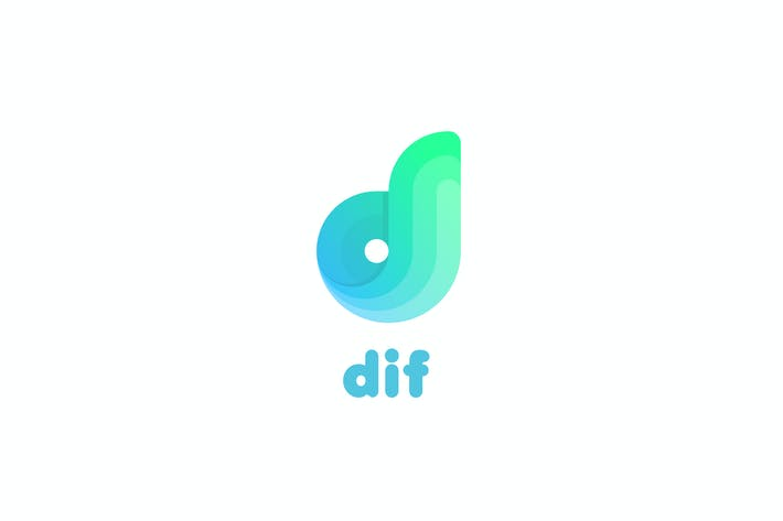 Cover Image For Dif D letter logo