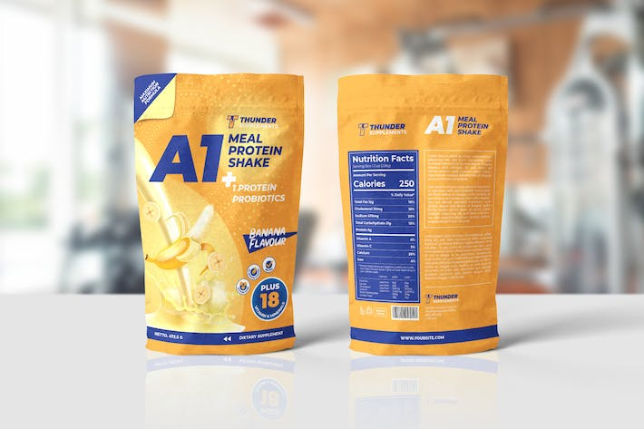 Cover Image For Supplement Pounch Bag Packaging Template