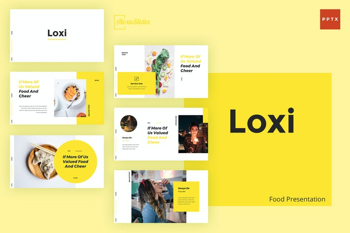 Thumbnail for Loxi - Food Powerpoint Presentation Template