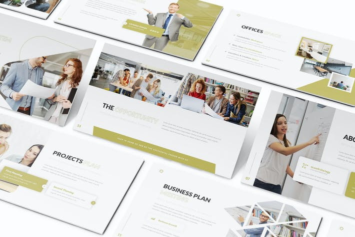 Thumbnail for Blocks Offices Keynote Template