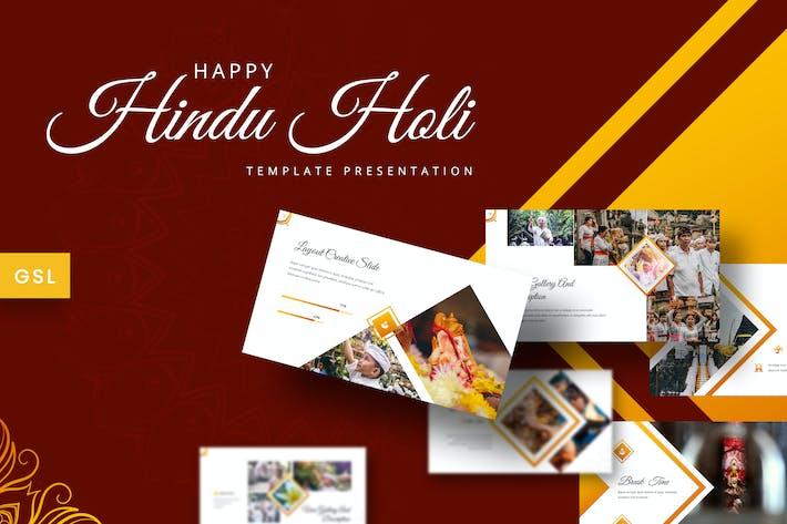 Thumbnail for Индуистский Холи - Google Слайды Шаблон
