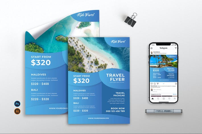 Thumbnail for Travel Agency vol.02 - Flyer, Poster & IG TY