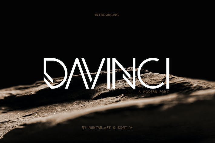 Thumbnail for DAVINCI FONTS | MODERN SANS
