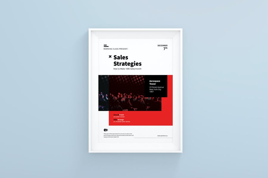 Sales Strategies A4 Flyer Template