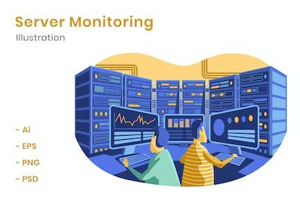 Server Monitoring Illustration