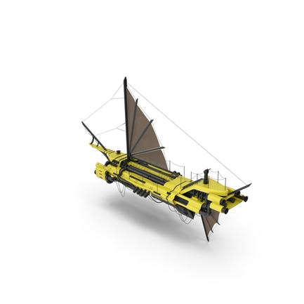 Flying Ship Yellow