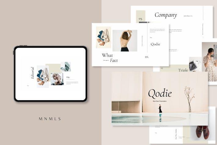 Thumbnail for Qodie - Minimal Business Keynotes