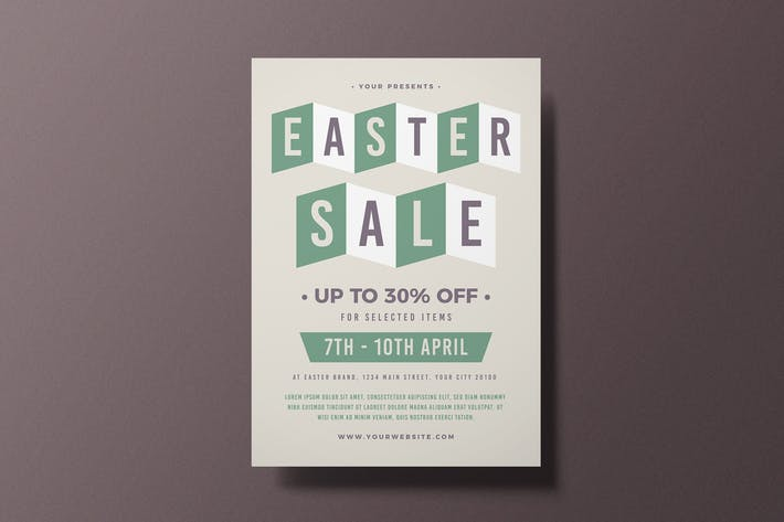 Thumbnail for dépliant sur les soldes de Pâques