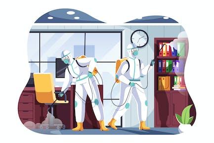 Disinfection Service Illustration