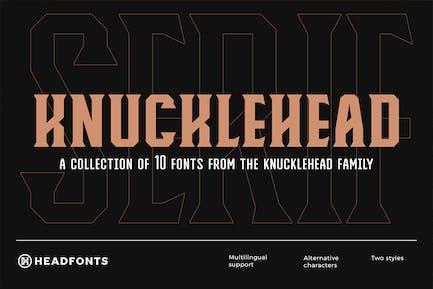 Knucklehead Con serifa | Fuente Vintage