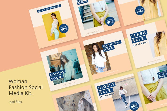 Thumbnail for Social Media Kit Woman Fashion